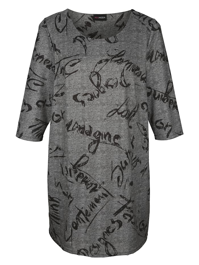 Shirtkleid mit Melange-Effekt