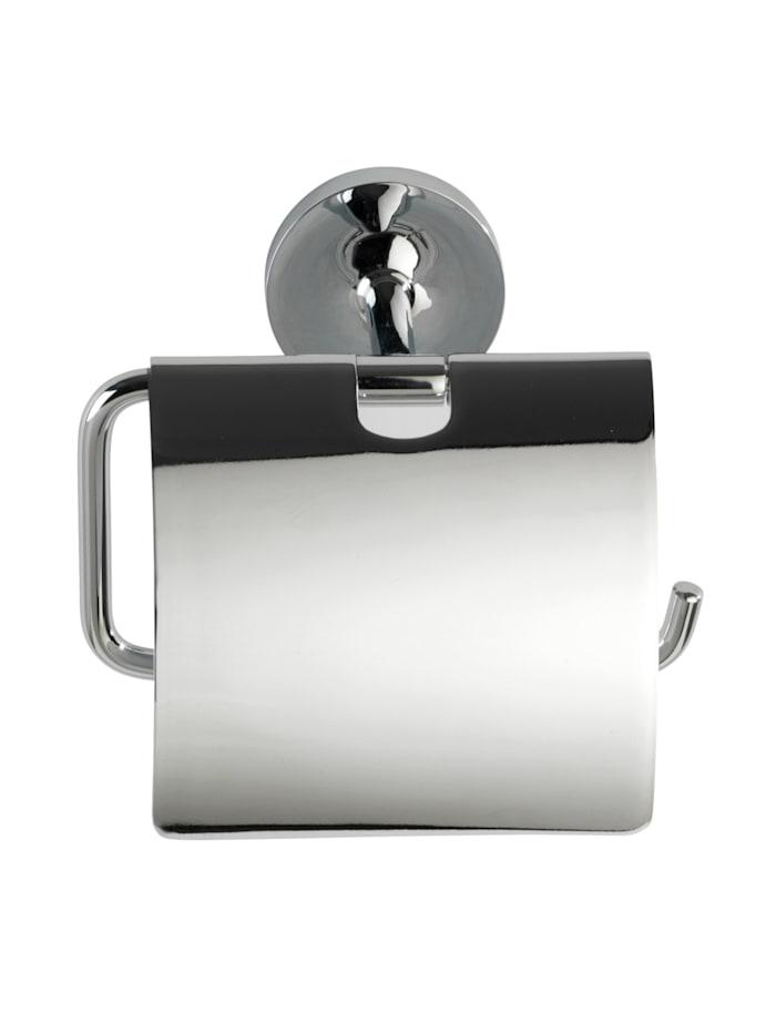 Power-Loc® Toilettenpapierhalter mit Deckel Arcole, Edelstahl, Befestigen ohne bohren