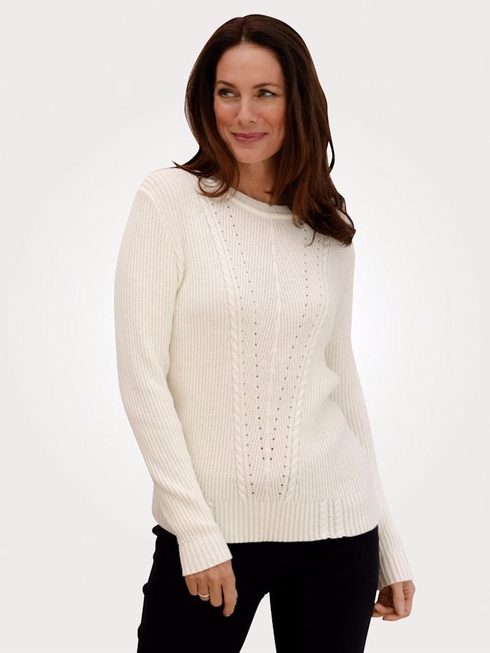 MONA Pullover im Strick-Mix, Natur
