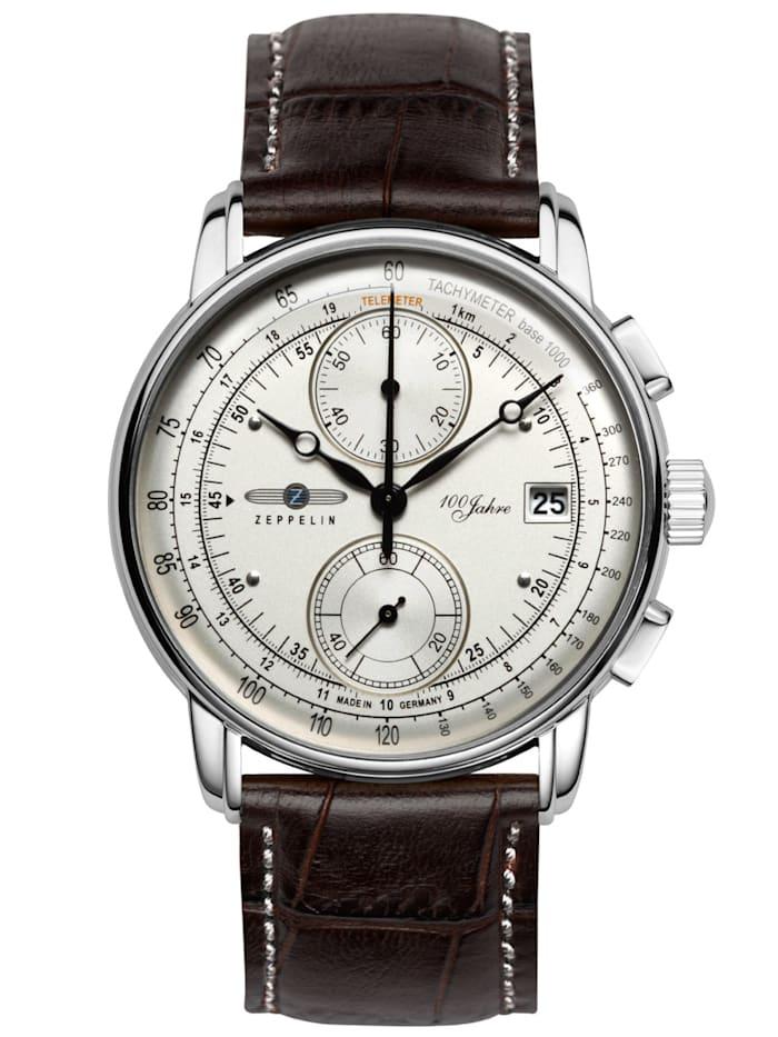 Zeppelin Herren-Chronograph 100 Jahre Zeppelin Ed. 1, Silberfarben
