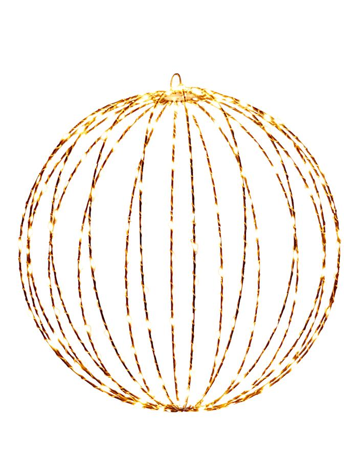 IMPRESSIONEN living Éclairage d'extérieur à LED forme boule, Marron