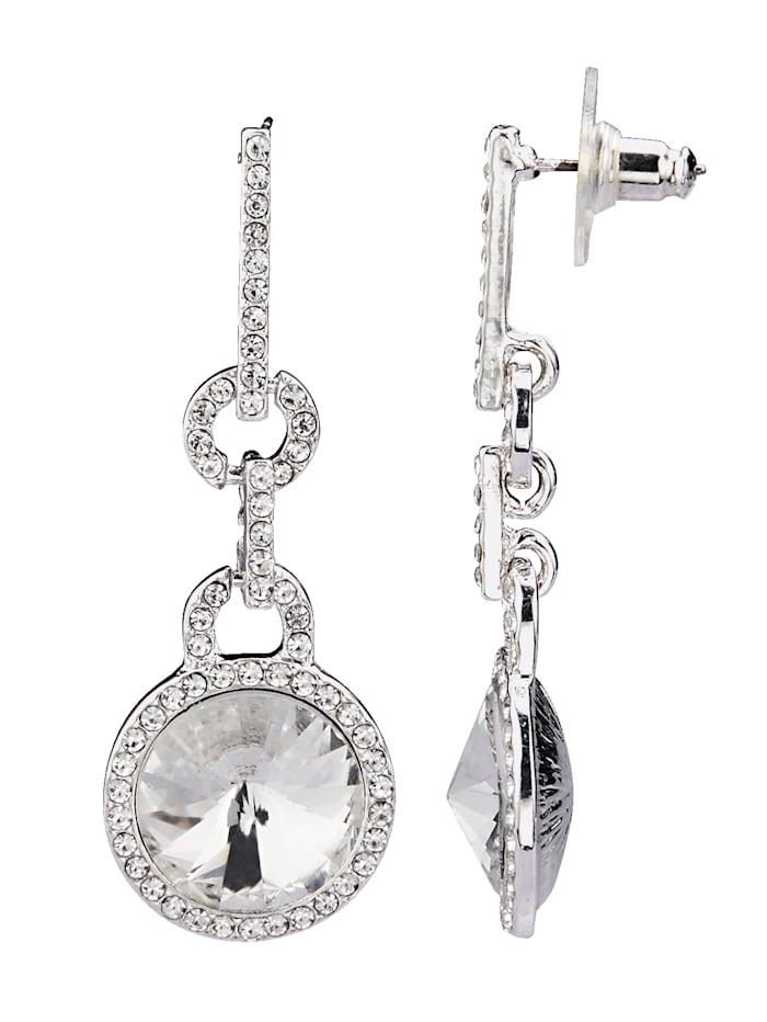 Örhängen med kristaller