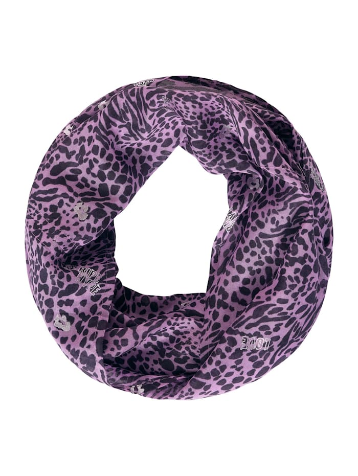 Cecil Loop mit Animal Print-Mix, soft violet