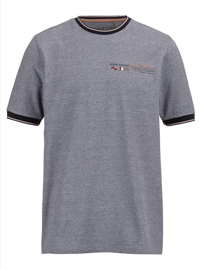 BABISTA T-Shirt mit zweifarbiger Reiskorn-Struktur, Blau/Rosé