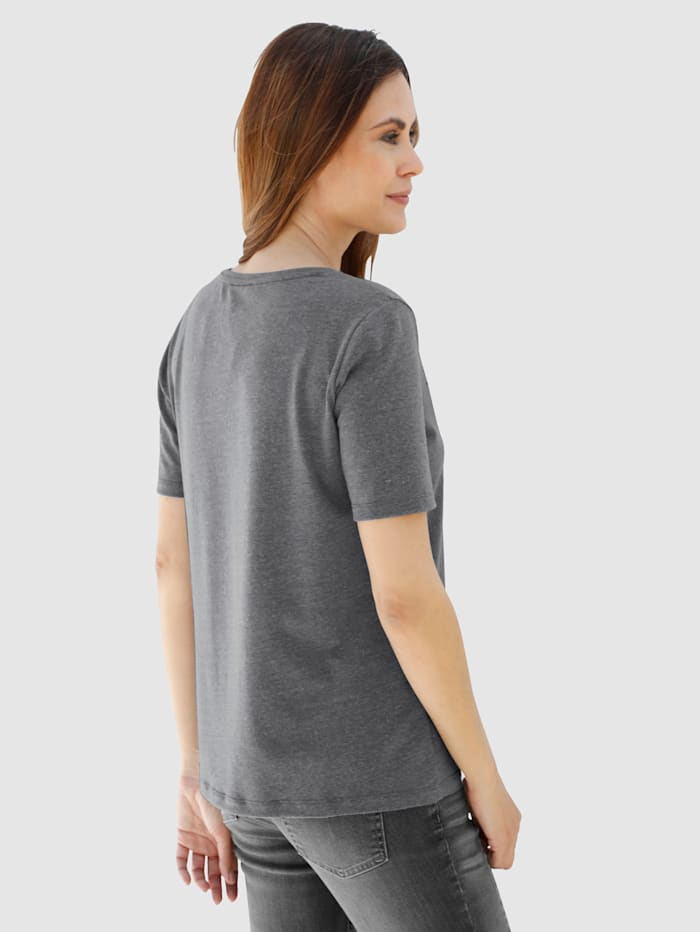 Shirt met winterse details