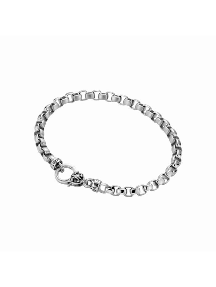 Giorgio Martello Armband eckige Glieder, gebürstet / glanz, Silber 925, Silber