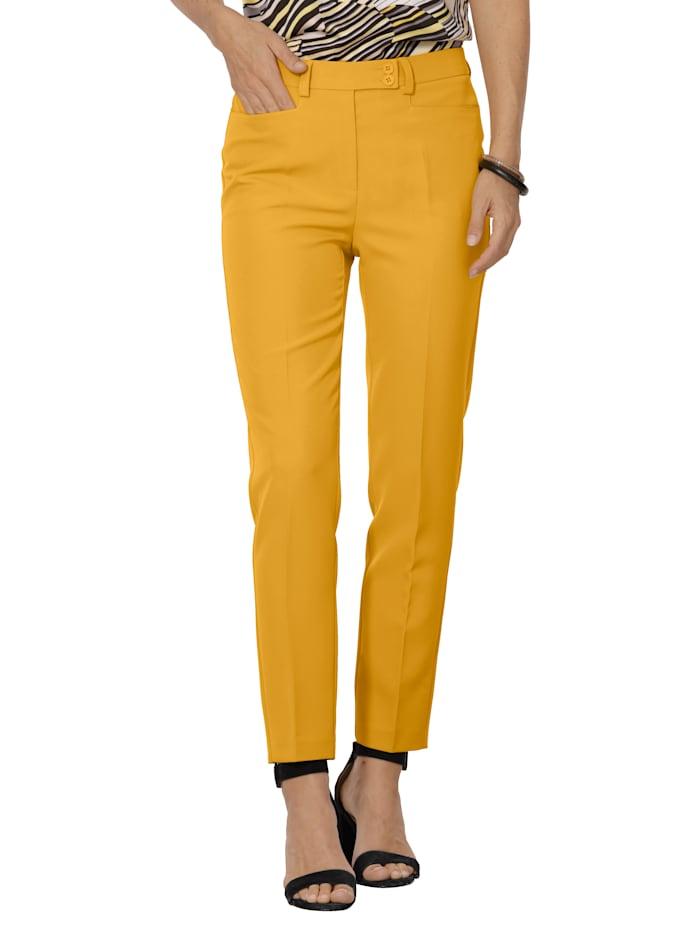 MONA Pantalon en matière bi-extensible, Jaune
