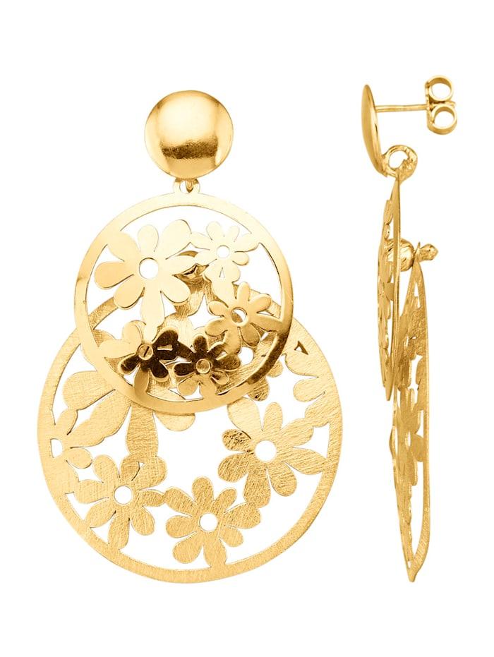 Ohrringe in Silber 925, vergoldet, Gelbgoldfarben