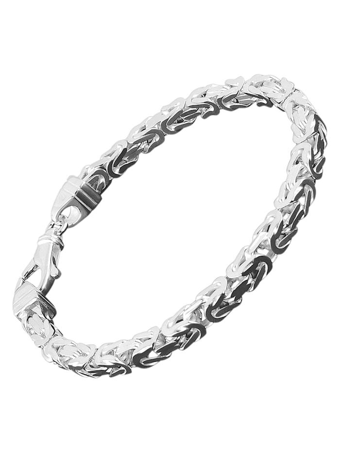 trendor Königskette Herren-Armband Sterlingsilber 925 Breite 4,7 mm, Silberfarben