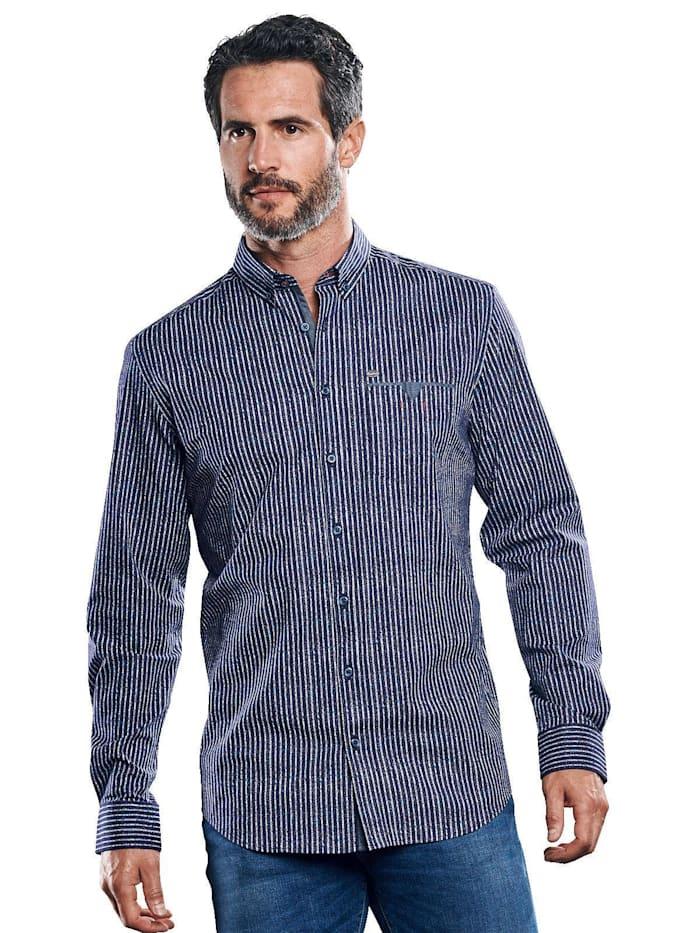 Engbers Hemd mit Comfort-Stretch-Anteil, Saphirblau