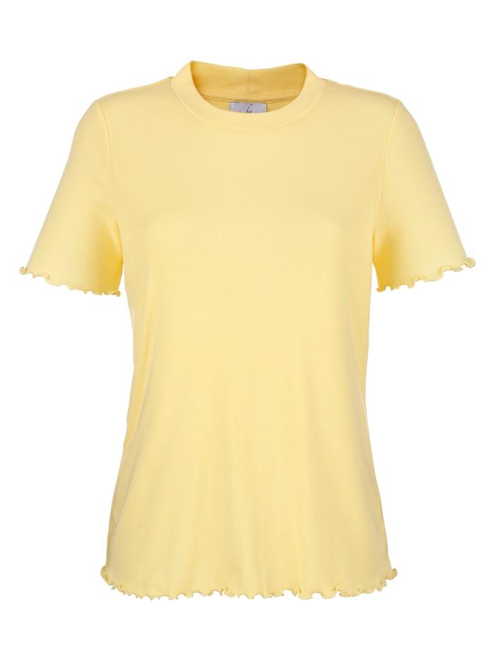Shirt mit Wellensaum