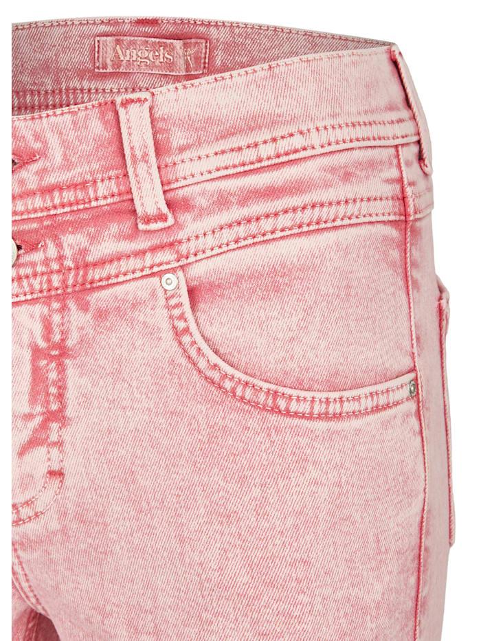 Jeans 'Ornella Button Moon' aus weichem Denim
