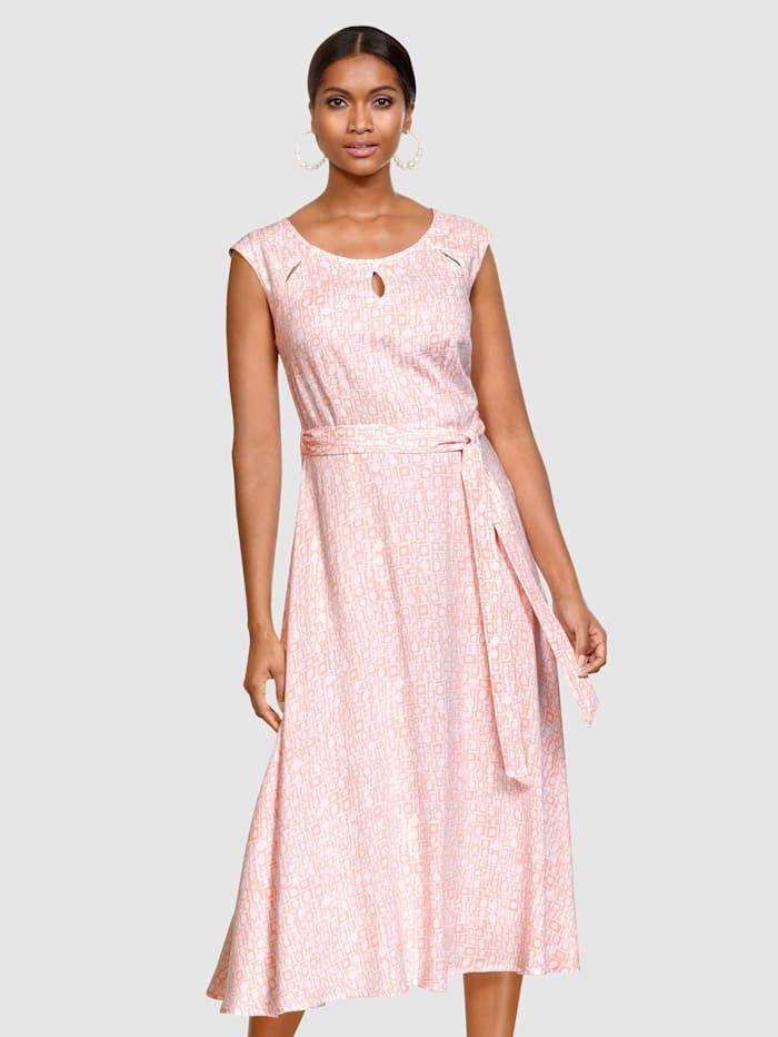 Alba Moda Kleid mit modischen Cut-Outs, Rosé/Weiß