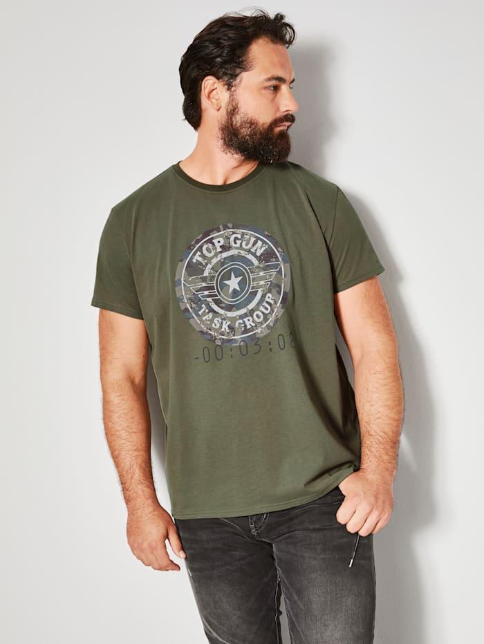 Top Gun T-shirt van zuiver katoen, Kaki