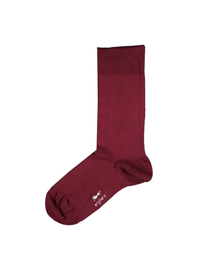 Engbers Bio-Baumwoll-Socken, Weinrot