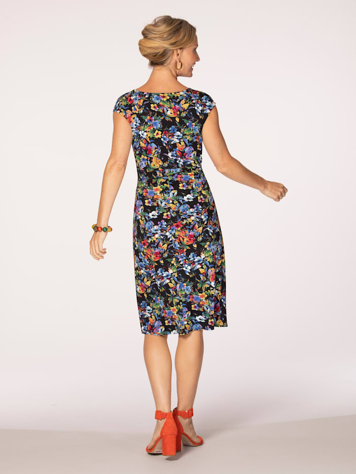 Jersey dress in a wrap style