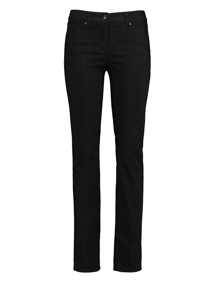 Gerry Weber 5-Pocket Jeans Best4me Langgröße, Black Black Denim
