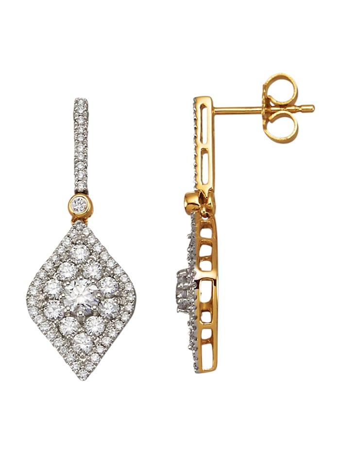 Diemer Diamant Øredobber med briljanter, Hvit