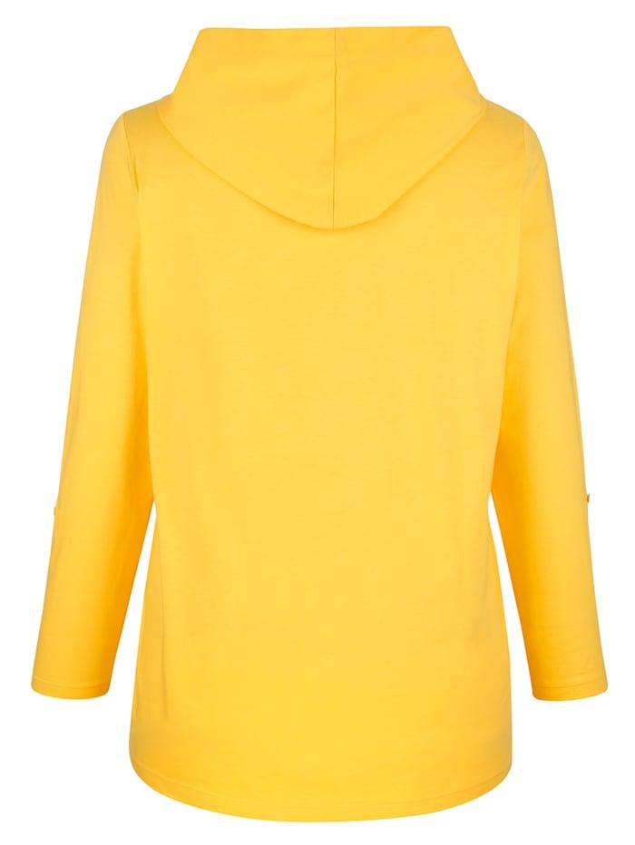Tričko s dekoratívnou mesh kapucňou