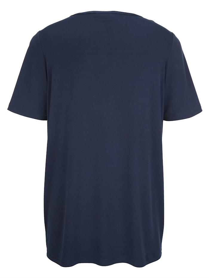 Shirt met glinsterende siersteentjes