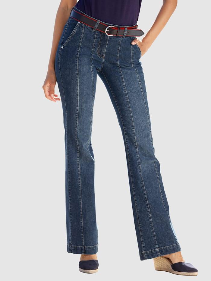 Laura Kent Jeans mit dekorativen Teilungsnähten, Dark blue