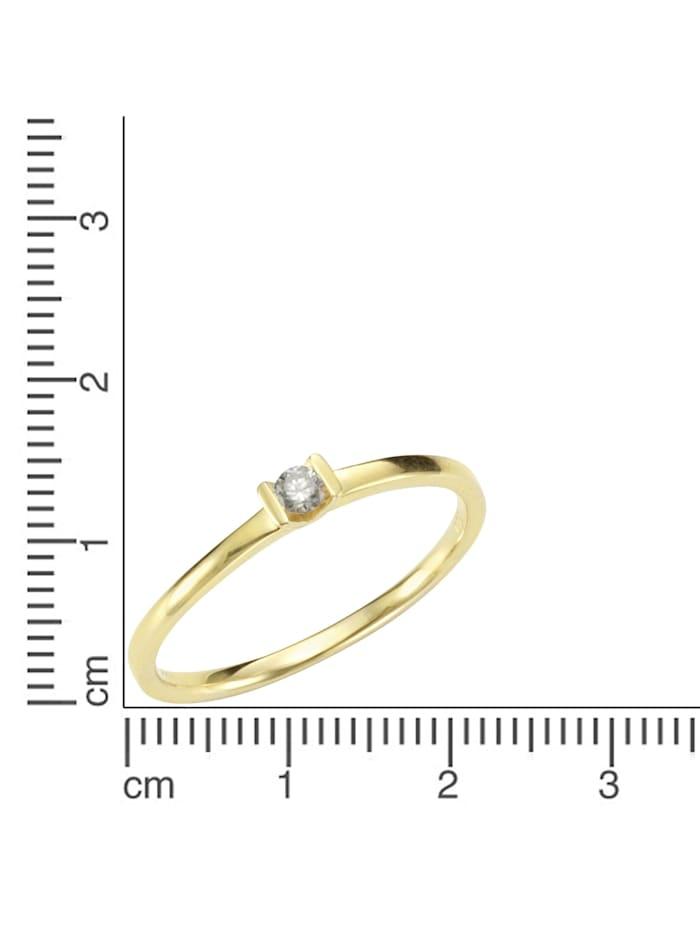 Ring 750/- Gold Brillant weiß Brillant Glänzend 0,07ct. 750/- Gold