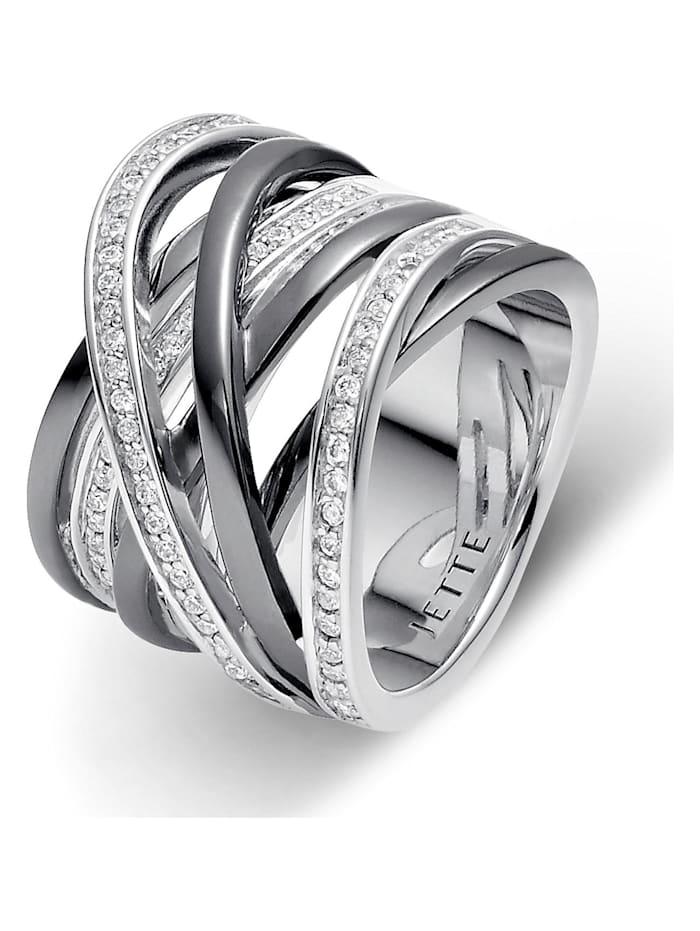 Jette JETTE Silver Damen-Damenring 925er Silber 79 Zirkonia, Silber