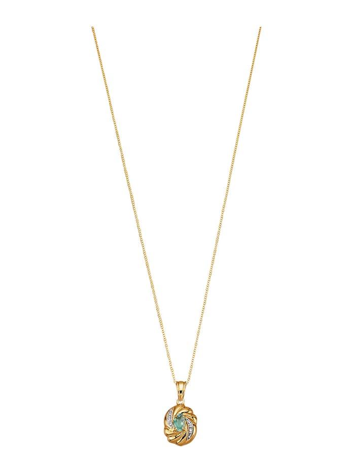 Halsband med venezialänk och topas, Blå