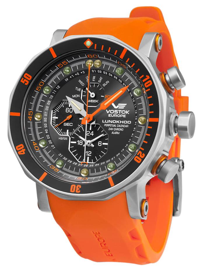 Vostok Europe Herrenuhr Chronograph Lunokhod 2, Schwarz