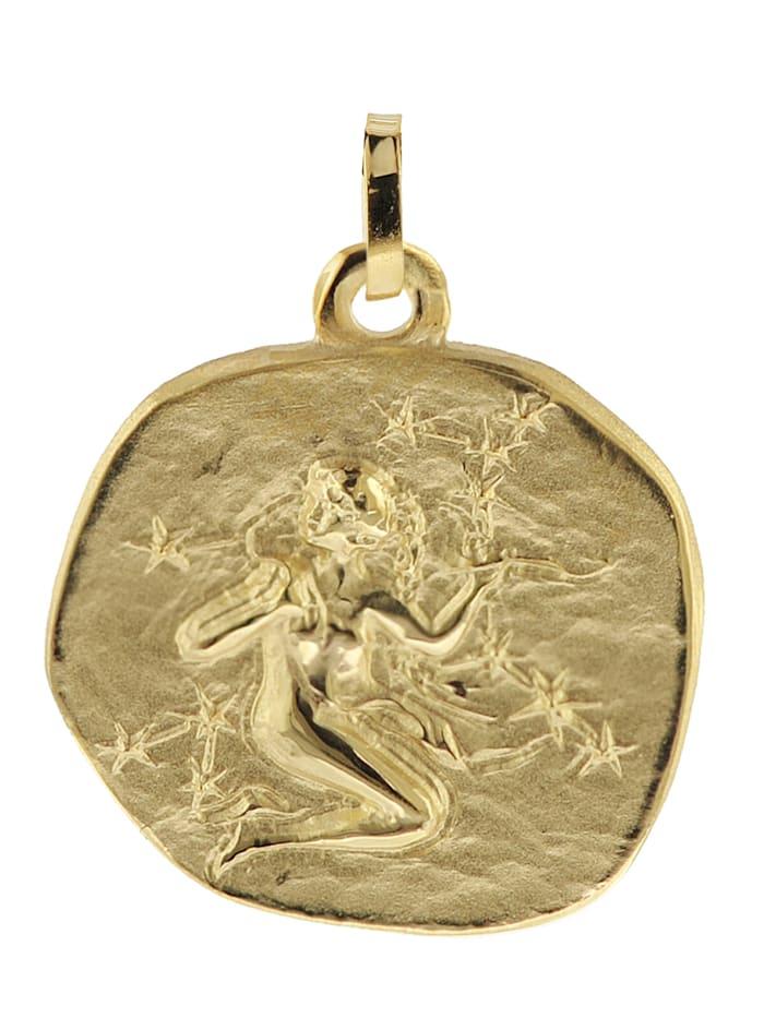 trendor Sternzeichen-Anhänger Jungfrau 333 Gold 20 mm, Goldfarben