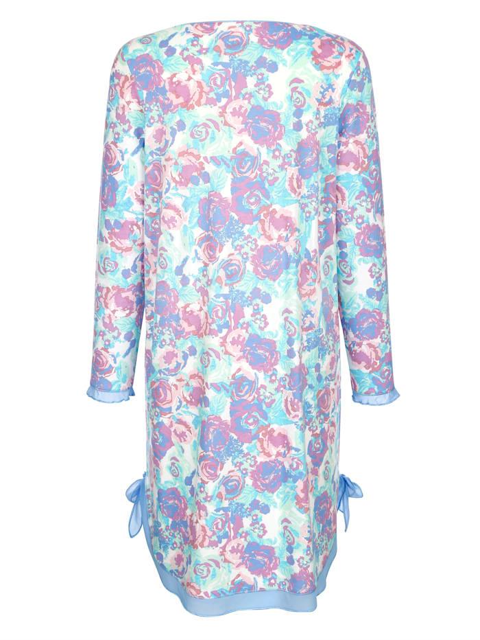 Chemise de nuit à jolies bordures en voile