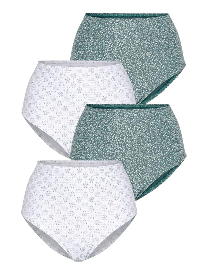 Harmony Taillenslips im 4er-Pack, Weiß/Jade