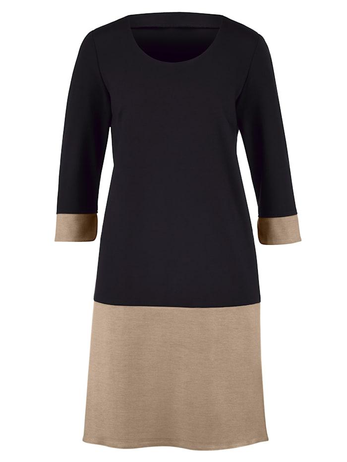 Kleid mit breiter Saumblende