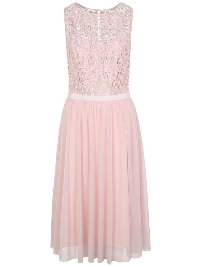 APART Kleid mit Corsage und Schlitz am Rücken, puder