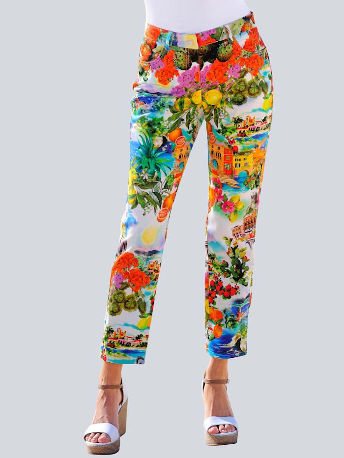 Alba Moda Strandhose mit italienisch inspiriertem Druck, Multicolor