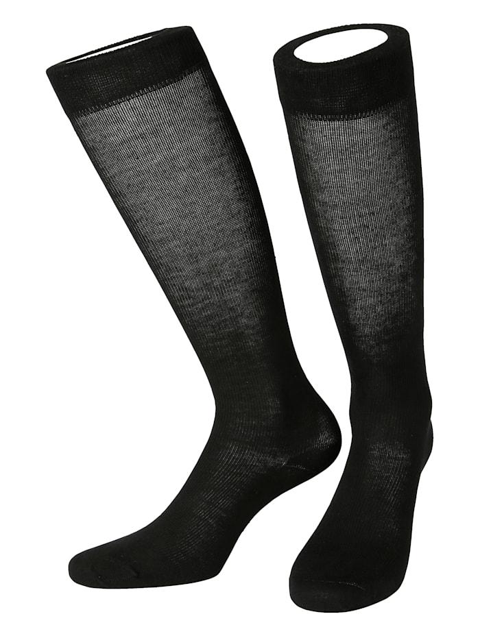Arthroven Chaussettes de contention en coton, Noir