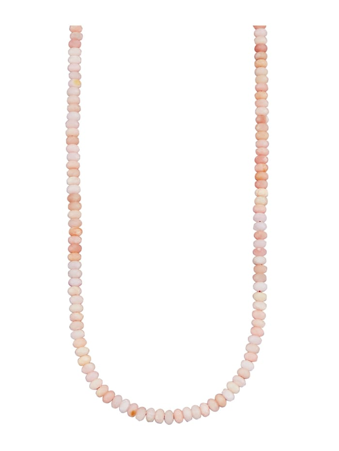 Halskette mit Opal, Rosé