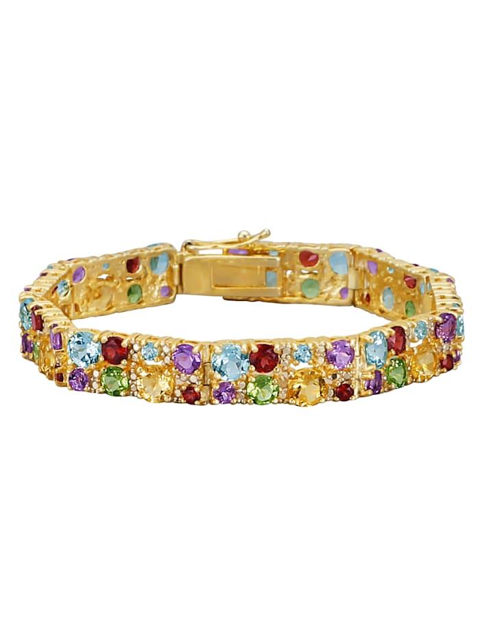 Diemer Farbstein Armband mit Farbsteinen, Multicolor