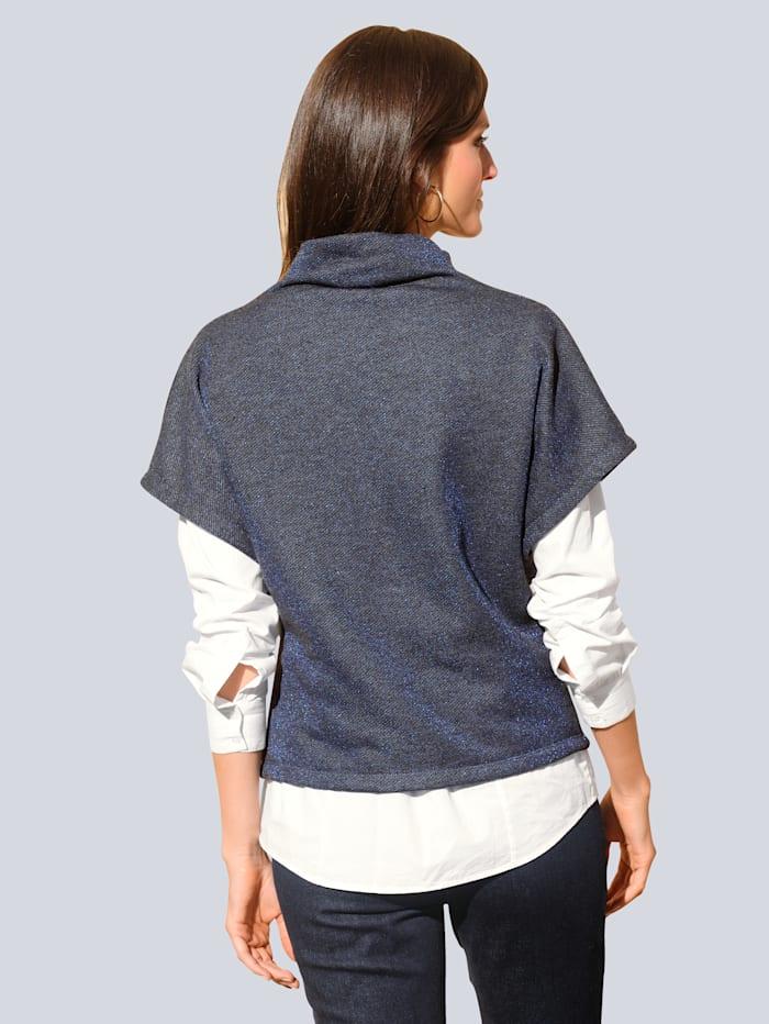 Sweatshirt mit weich fallender Kragenlösung