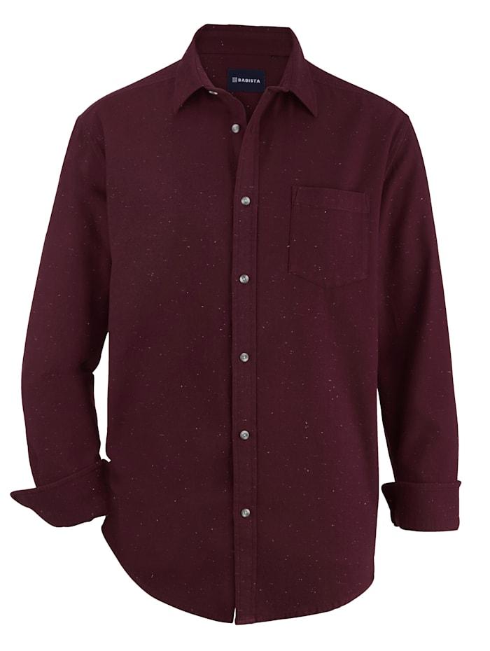BABISTA Overhemd van zacht materiaal, Bordeaux