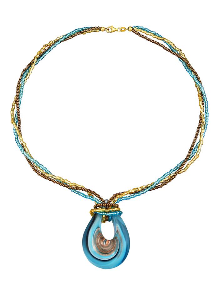 Amara Highlights Anhänger mit Muranoglaskette, Multicolor
