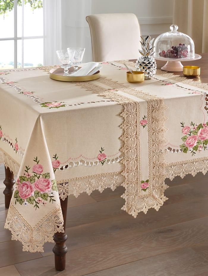 """Webschatz Linge de table """"Romy"""", Crème"""