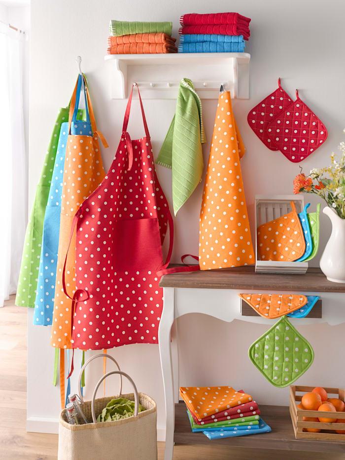 Kracht Frotté kjøkkenhåndklær 2-pk, rød