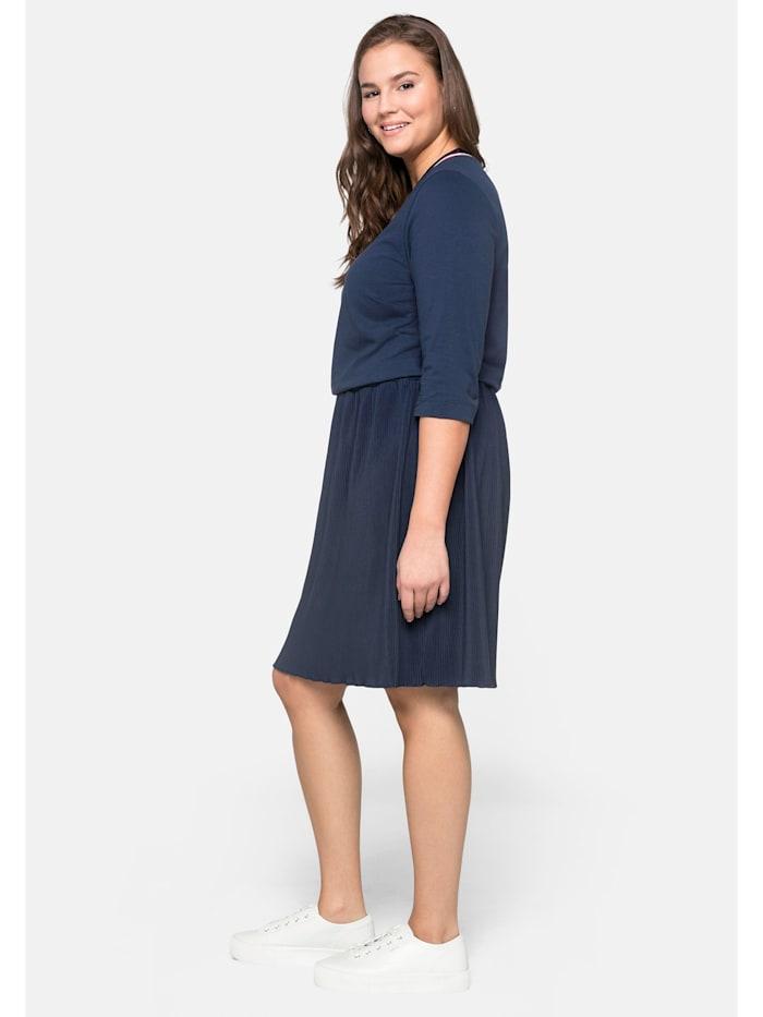 Sheego Kleid mit plissiertem Rock