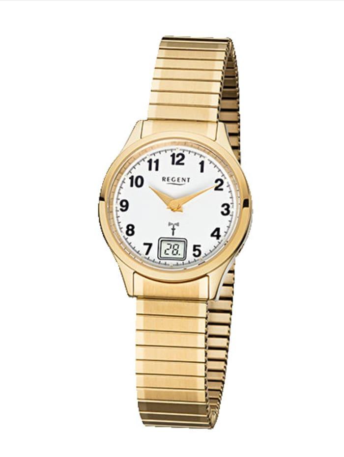 Regent Damen-Funk-Uhr 12030082, Gelbgoldfarben