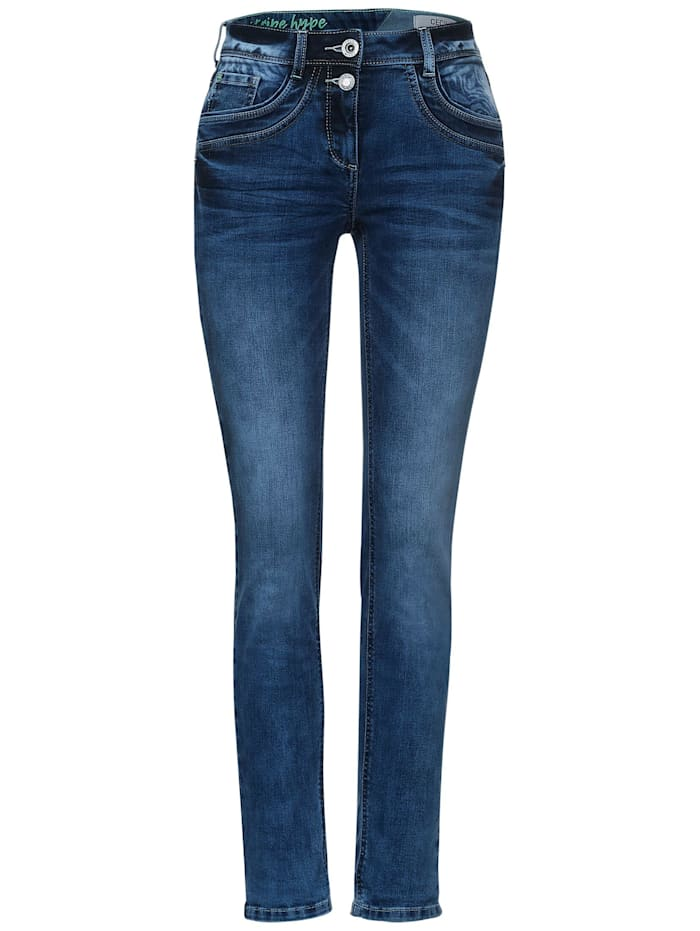 Cecil Slim Fit Denim in Inch 30, authentic used wash