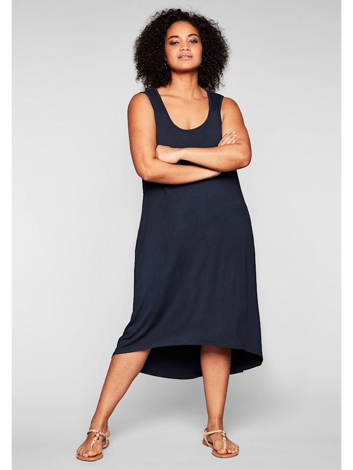 Sheego Strandkleid mit Taschen, im Vokuhilaschnitt, marine
