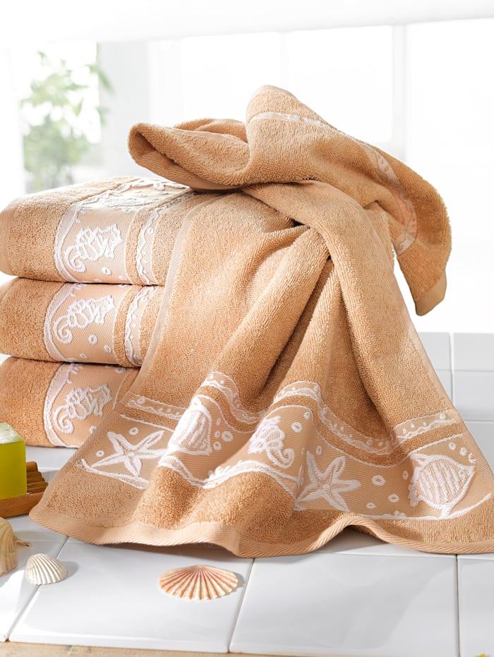 Webschatz Handdoeken Schelp, beige