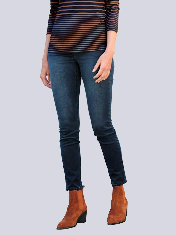 Alba Moda Jeans met zipper op de insteek van de zakken, Dark blue