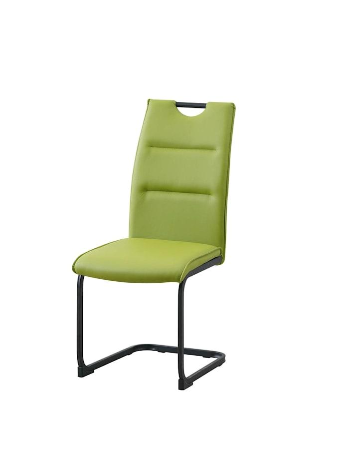 Schwingstuhl 4er Set PU grün DannyP